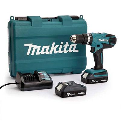 Máy khoan búa chạy pin Makita HP457DWE