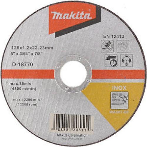 125 x 1.2 x 22.2mm Đá cắt sắt Makita D-18770